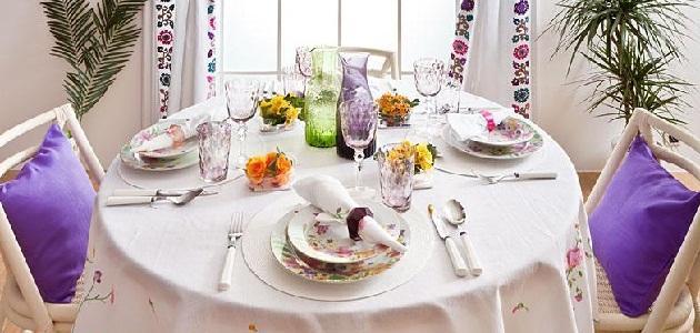 چیدمان میز ناهار خوری